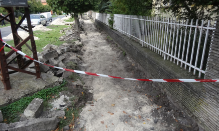 Pavement reconstructions under process around town