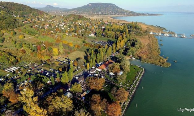 The first winter beach to open at Lake Balaton