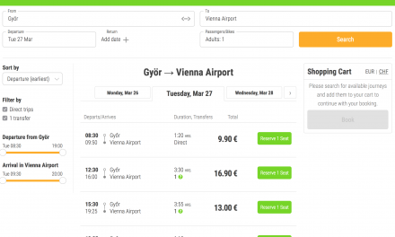 Take a FlixBus from Gyor to Vienna Airport