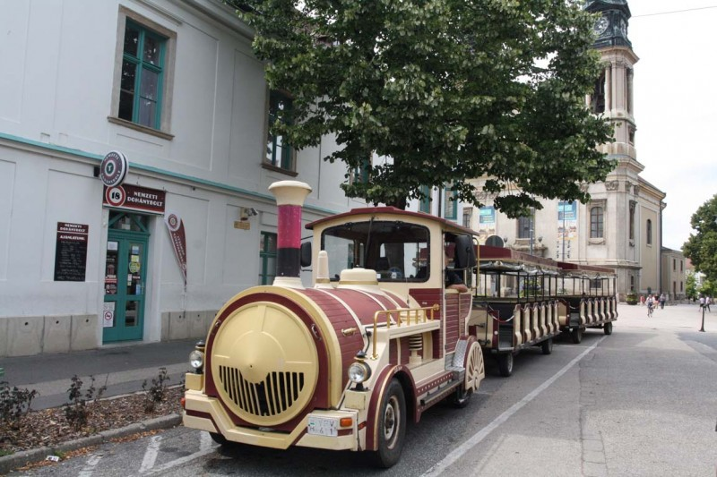 Sightseeing train in Pápa